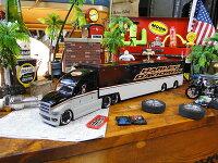 マイストハーレーダビッドソンのコンボイトレーラーのミニカー1/64スケール(シルバーヘッド)■ミニカーアメ車アメリカ雑貨アメリカン雑貨アメリカ雑貨小物モデルカー正規品