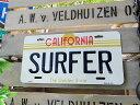 カリフォルニア州のライセンスプレート(サーファー) ■ ナンバープレー...