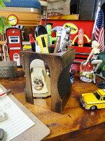 ペンシルシャープナー型ペンホルダー(ダークブラウン)■アメリカ雑貨アメリカン雑貨