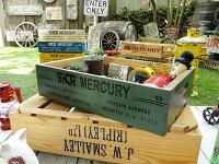マーキュリーのウッドボックス(カーキ)■アメリカ雑貨アメリカン雑貨