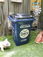 カルチャーマートのプラスチックダストビン(32Lサイズ/ブルー)■ゴミ箱ダストボックス/ダストビン■アメリカ雑貨アメリカン雑貨