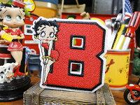 ベティ・ブープのワッペン(Bフォント)■アメリカ雑貨アメリカン雑貨