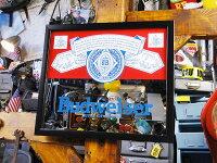 バドワイザーのパブミラー(Aタイプ)■アメリカ雑貨アメリカン雑貨