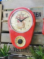 フレンチアメリカンのキッチンタイマークロック(レッド)■アメリカ雑貨アメリカン雑貨■アメ雑貨■おしゃれな壁掛け時計インテリア雑貨生活雑貨カントリー雑貨調