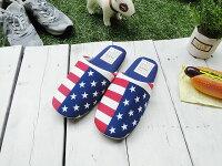 星条旗のルームスリッパ■アメリカ雑貨アメリカン雑貨