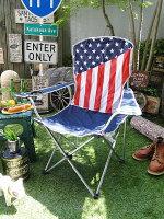 星条旗の折りたたみチェアー(キャリングバッグ付き)■アメリカ雑貨アメリカン雑貨