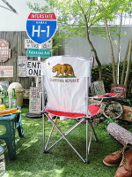 カリフォルニア州旗の折りたたみチェアー(キャリングバッグ付き)■アメリカ雑貨アメリカン雑貨