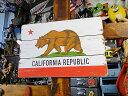 カリフォルニア州旗のヴィンテージサインボード ■ ウッドサイン サイン...