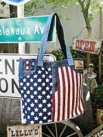 星条旗デニムのトートバッグ■こだわり派が夢中になる人気のアメリカ雑貨屋アメリカン雑貨アメ雑貨鞄メンズバッグおしゃれファッション