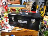 インダストリアル・ユーティリティボックスLサイズ(ブラック)■アメリカ雑貨アメリカン雑貨道具箱おしゃれ人気インテリア雑貨グッズ工具箱ツールボックスdiy工具日曜大工