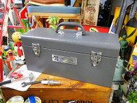 インダストリアル・ユーティリティボックスLサイズ(グレー)■アメリカ雑貨アメリカン雑貨道具箱おしゃれ人気インテリア雑貨グッズ工具箱ツールボックスdiy工具日曜大工