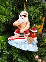 ハワイアン・クリスマスオーナメント(サーフサンタ・パドル)■飾りインテリア装飾ガーランドメリークリスマスディスプレイxmasデコレーションツリーパーティーグッズオーナメントアメリカン雑貨プレゼント