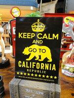 キープ・カーム&ゴートゥ・カリフォルニアのステッカーバッドアス・ステッカー#019■アメリカ雑貨アメリカン雑貨シール