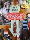 コカ・コーラブランド アローサインのエンボス・ティンサイン ■ アメリ...