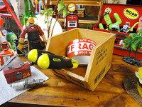 コンテナ木箱の小物入れ(ツールボックス/ブラウン)■アメリカ雑貨アメリカン雑貨