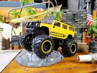 Jadaモンスタートラックのダイキャストモデルカー1/32スケール(ハマーH2/イエロー)■アメリカ雑貨アメリカン雑貨