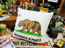 カリフォルニア州旗のクッション ■ アメリカ雑貨 アメリカン雑貨 人気...