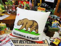 カリフォルニア州旗のクッション■アメリカ雑貨アメリカン雑貨