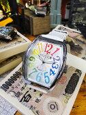 天才時計師フランク三浦の腕時計 六号機(改)デカ時計タイプマグナム(レインボーホワイト) ■ アメリカ雑貨 アメリカン雑貨 おもしろ雑貨 おもしろグッズ 人気 おしゃれ 腕時計 メンズ 黒 通販 ウォッチ