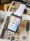 天才時計師フランク三浦の腕時計 初号機(改)通常サイズ(レインボーホワイト) ■ アメリカ雑貨 アメリカン雑貨 おもしろ雑貨 おもしろグッズ 人気 おしゃれ 腕時計 メンズ 黒 通販 ウォッチ