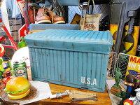 港のコンテナのストレージボックス(ブルー)■アメリカ雑貨アメリカン雑貨