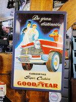 世界の名車&クラシックカーの3Dメタルサイン(グッドイヤー/スーパークッション)■アメリカ雑貨アメリカン雑貨アメ雑貨アメ雑壁掛け壁飾り人気壁面装飾内装スティールサインアメリカ雑貨おしゃれ