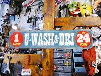 ランドリーサービスのU.S.ヘヴィースチールサイン(UWASH&DRI)■サインプレートブリキアメリカ看板ティンサインサインボードアメリカンブリキ看板アメリカ雑貨アメリカン雑貨おしゃれ壁面装飾装飾ディスプレイ内装人気ウォールデコレーション壁飾り