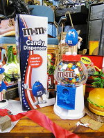 m&m'sチョコディスペンサー限定版パトリオットバージョン(ブルー)■アメリカ雑貨アメリカン雑貨