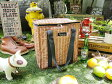 籐カゴみたいなクーラーバッグ スクエアトートバッグ ■ アメリカ雑貨 アメリカン雑貨 アウトドア ピクニック バーベキュー