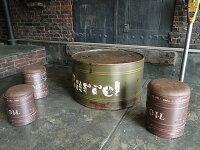 廃墟のドラム缶テーブル■アメリカ雑貨アメリカン雑貨