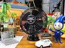 オレ専用扇風機!! レトロUSBデスクファン(ブラック) ■ 卓上扇風機 デザイン扇風機 アメ...