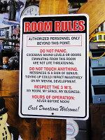 「俺の部屋でのオキテ」のミニジョーク看板■アメリカ看板アメリカ雑貨インテリア雑貨アメリカン雑貨