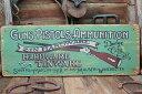 ガン&ピストル屋の木製看板 ■ 木製 ウッド アメリカ 看板 サインプ...
