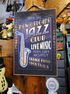ミュージック・ハンギングサイン(ジャズクラブ) ■ アメリカ雑貨 アメリカン雑貨