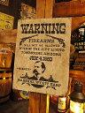 西部のお尋ね者ポスターの木製看板(ワイアット・アープ) ■ アメリカ雑...