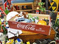 コカ・コーラブランドウッドクレート(レッド)■アメリカ雑貨アメリカン雑貨