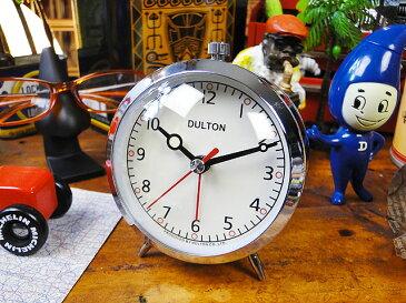 10年経ってもカッコイイ・・・ ダルトン クォーツアラームクロック(クローム) ■ アメリカ雑貨 アメリカン雑貨 目覚まし時計 おしゃれ おもしろ アラームクロック めざまし時計 かっこいい プレゼント 置き時計 アメリカ 雑貨 インテリア