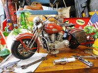 インディアンバイクのブリキオブジェ■アメリカ雑貨アメリカン雑貨