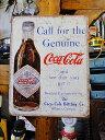 コカ・コーラのブリキ看板(Call for Genuine) ■ アメ...