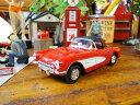1957年シボレー・コルベットのダイキャストミニカー(レッド/ルーフ) ■ ミニカー アメ車 アメリカ雑貨 アメリカン雑貨 アメリカ 雑貨 インテリア こだわり派が夢中になる人気のアメリカ雑貨屋 小物 モデルカー 正規品