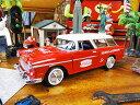 コカ・コーラ 1955年シボレー・ベルエア・ノマドワゴンのダイキャストモデルカー 1/24スケール ■ ミニカー アメ車 アメリカ雑貨 アメリカン雑貨 アメリカ 雑貨 インテリア こだわり派が夢中になる人気のアメリカ雑貨屋 小物 モデルカー