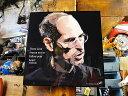 アップルの創始者 スティーブ・ジョブズのポップアートフレーム(カリスマ...