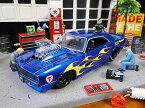 Jada 1969年シボレー・カマロのダイキャストモデルカー 1/24スケール(ブルー×フレーム)