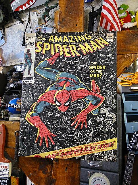 マーベルコミック アメイジング・スパイダーマンのキャンバスアート(100thアニバーサリー)画像