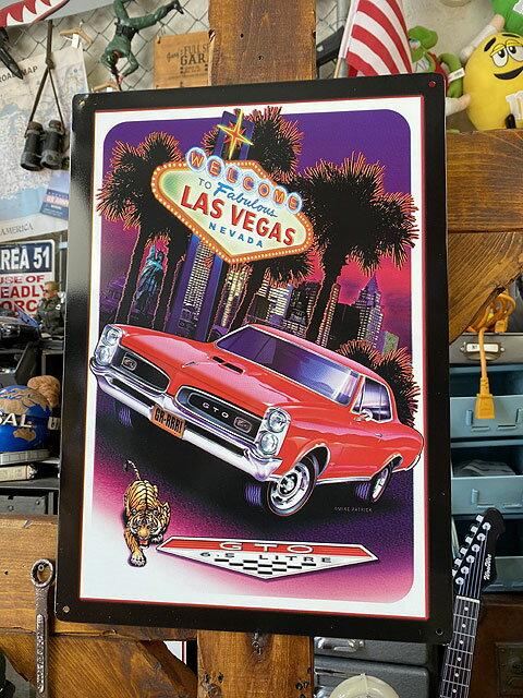 ポンティアック GTOのブリキ看板(ラスベガス)画像