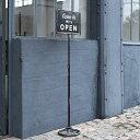 ダルトン スピナーサインスタンド オープン&クローズ(ブラック)