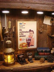 ポスター フレーム ハンバーガー アメリカ アメリカン インテリア おしゃれ アンティーク ディスプレイ ウォール デコレーション アメコミ