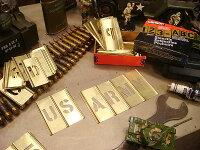 所ジョージさんも世田谷ベースで愛用してるHanson社のステンシルプレート45ピース英数字セット(1インチ)■メタル製■真ちゅう製■真鍮製■アメリカン雑貨アメリカ雑貨