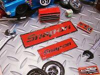 スナップオンのステッカー(レッドロゴ・四角)大小2枚セット