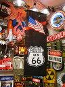 ルート66&星条旗タペストリー(ブラック) ■ アメリカ雑貨 アメリカ...